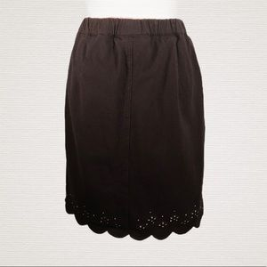 DREAM JEANNES Sz M Black Scalloped Skirt/Skort